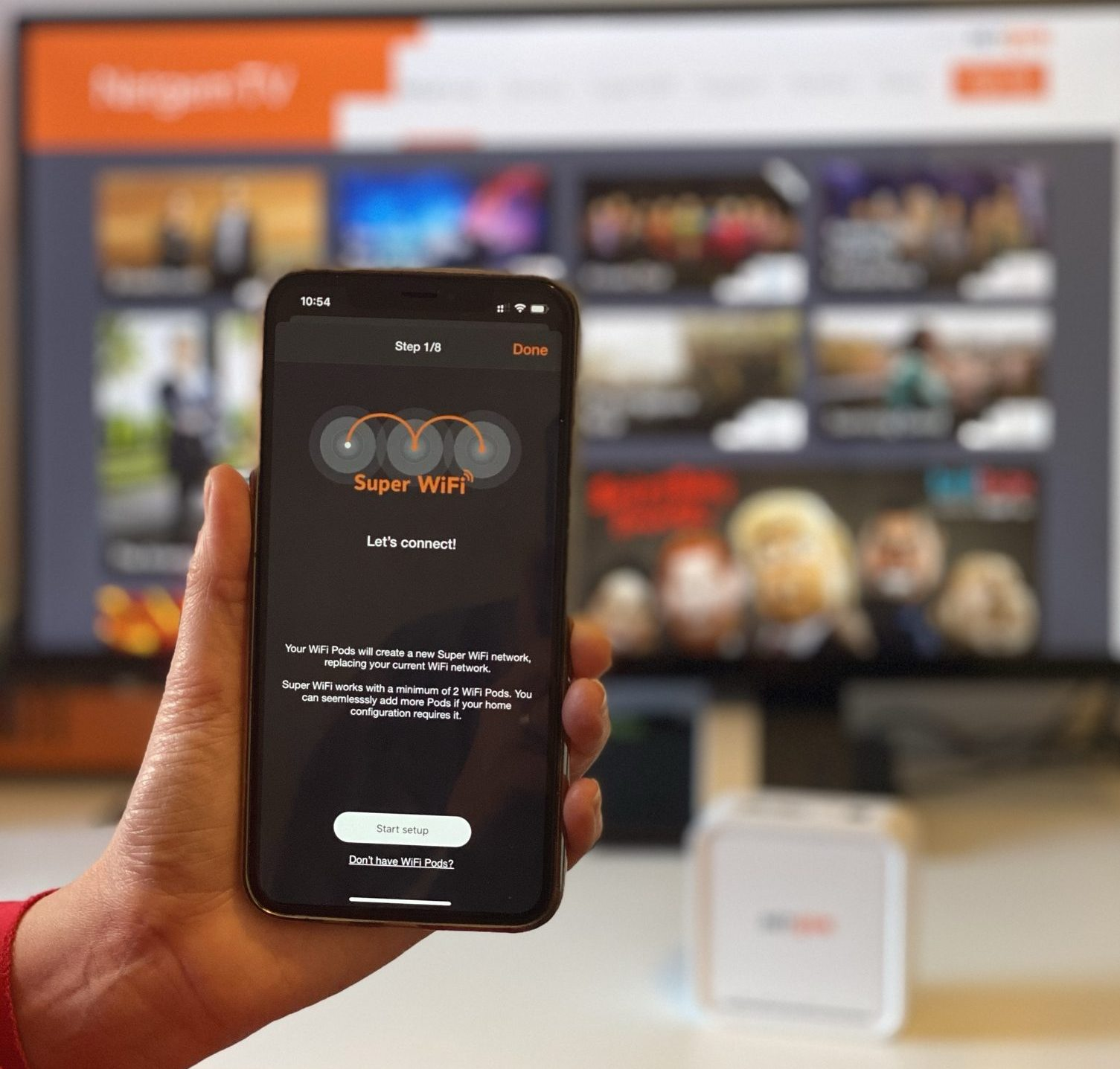 One Mobile App for TV & WiFi